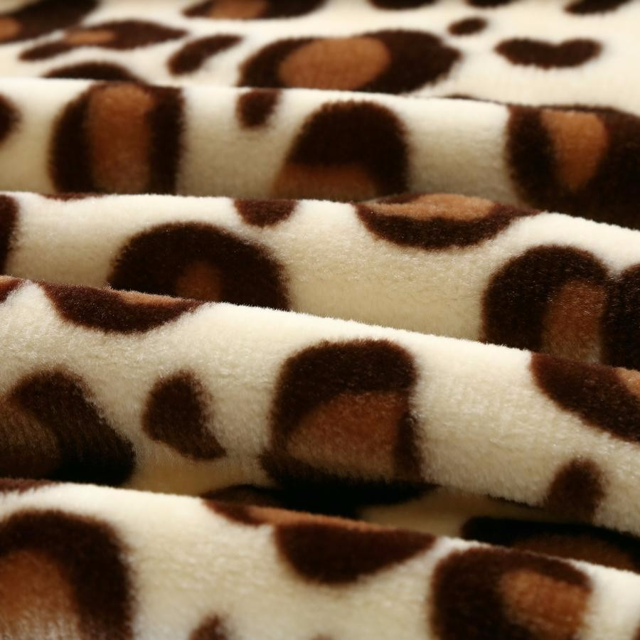 china wholesale polyester super soft blanket korean blanket double size animal printing