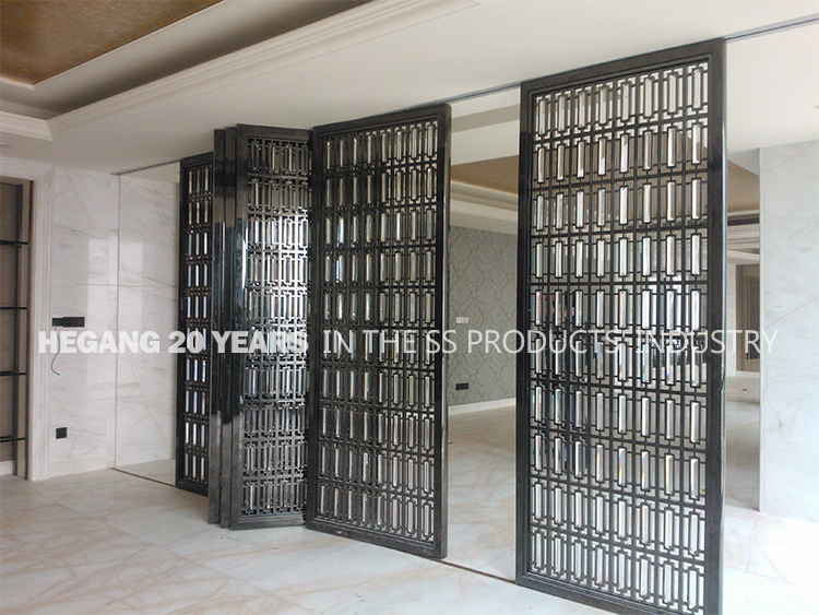 stainless steel sliding folding removable accordion room divider partition wall screen for banquet view folding partition wall hghy product details