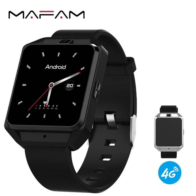 MAFAM MF35 4G Smart Watch Phone Android 6.0 GPS WIFI HD Camera Heart Rate Smart Watch 4G Quad Core