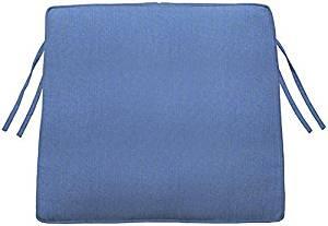 """Box edge Trapezoid Outdoor Chair Cushion, 3""""Hx20.5""""Wx18""""D, CAPRI SUNBRELLA"""