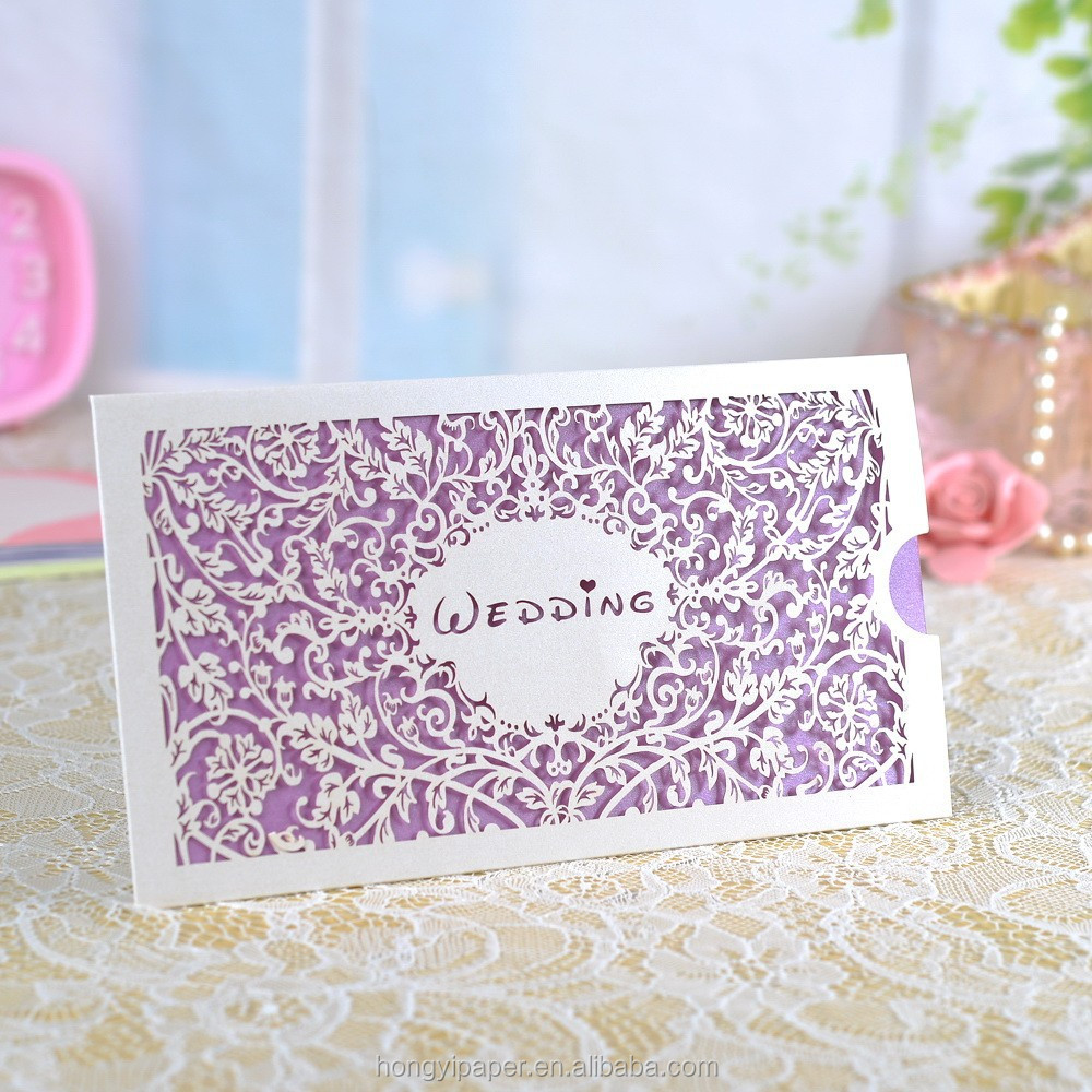 Factory price Customized free samples indian islamic wedding cards invitations inner design