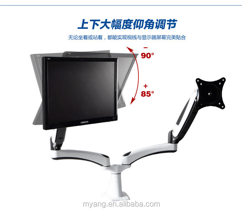 Wholesale H-Quaility Universal Two Head Desktop LCD Mount/LCD Table Bracket