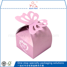 Cute high-end custom gift packing box/exquisite birthday butterfly candy box