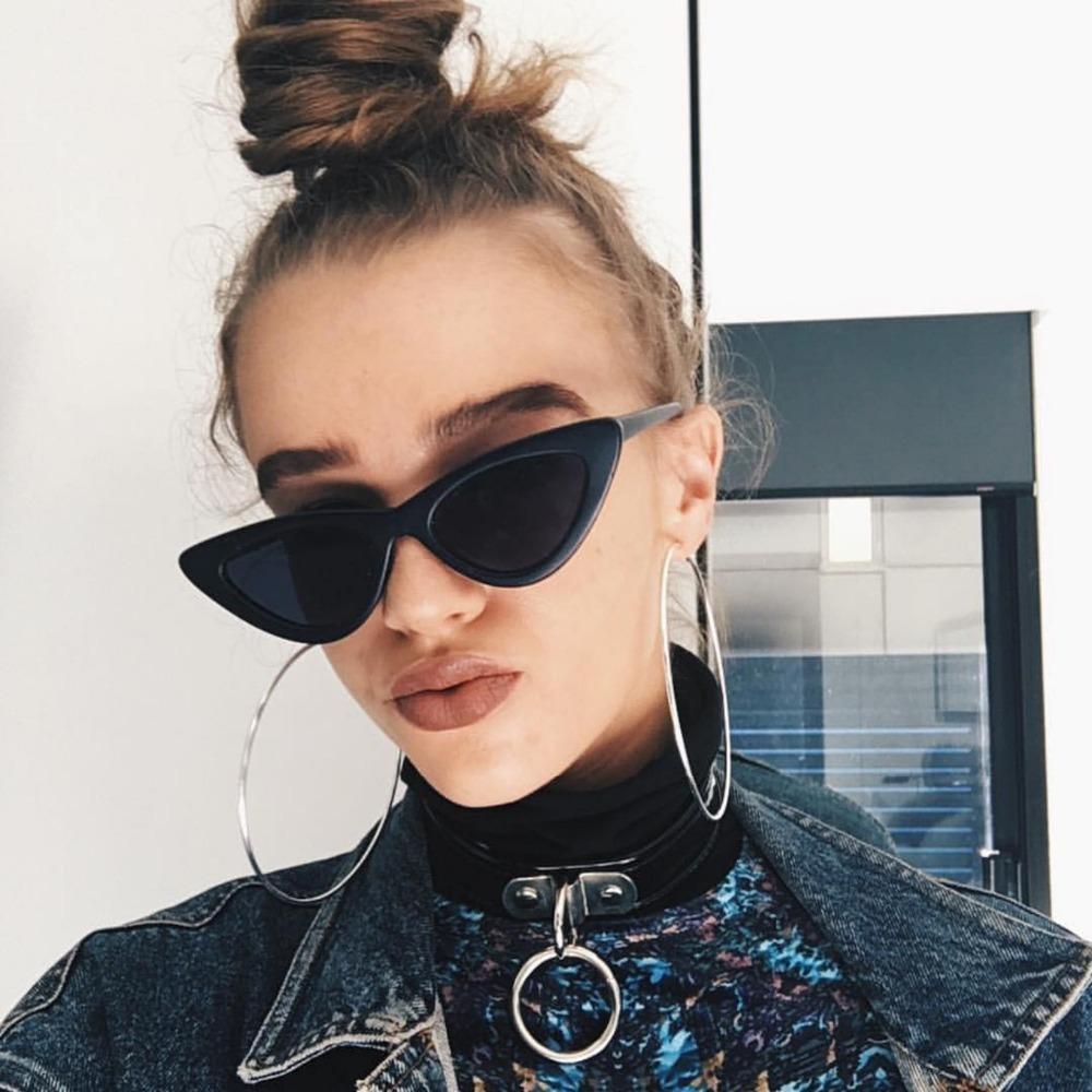 petit cat eye lunettes de soleil femmes lunettes de soleil 2018 lunettes de soleil de mode. Black Bedroom Furniture Sets. Home Design Ideas