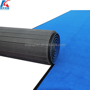 factory for sale angtian-sports rolling folding gymnastics mat blue gym cheap interlocking floor mats