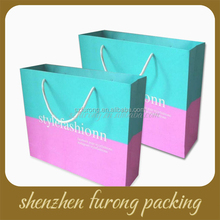 custom wholesale fancy cheap or luxury kraft paper shopping bag with logo