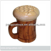 Beer cup puzzle, di legno di arti <span class=keywords><strong>mestiere</strong></span> py4244