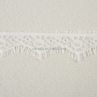 "Off White 100% Nylon 1.58"" Eyelash Lace Trimming for Lady's Sexy Underwears"