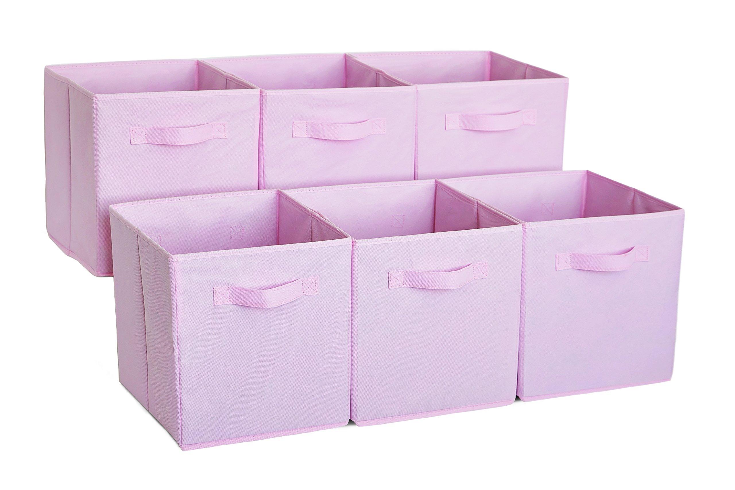 Get Quotations · Premium Storage Cube   Fabric Basket Bins   Organize Your  Closet, Bedroom U0026 Nursery (