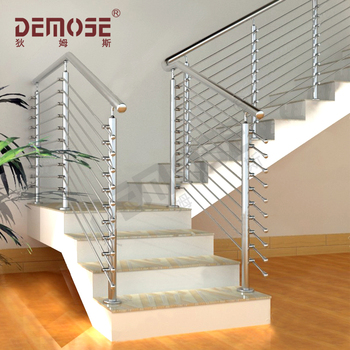 Prefab Metal Stair Railing Linear Guide Rail Aluminum