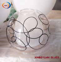 decorative stained glass lamp shade double wall glass lamp cover