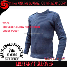 Mens Army Pullover Security Military Knitted Sweater Crew Neck