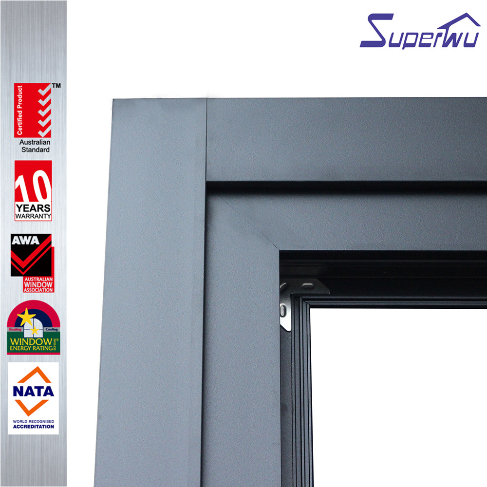 Aluminium thermal break tempered glass exterior bi folding entry doors