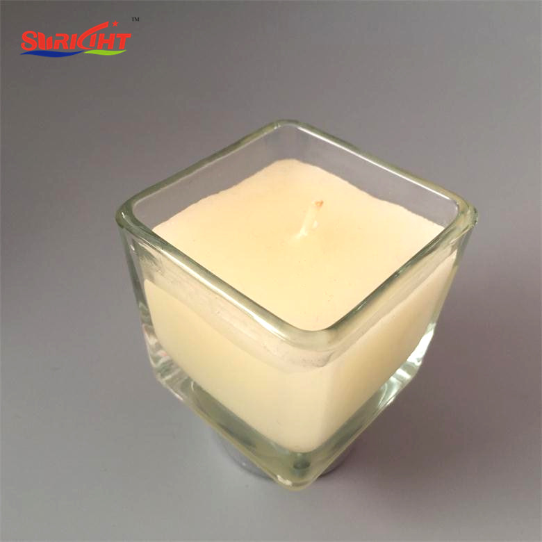 Soy Wax Scented Square Jar Aromatic Candle