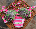 2016 Sexy Women s Halter Bandeau Bikini Sets Peacock Print Swimsuit Push up Bathing Suit Swimwear