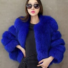 Wholesale Natural Faux Fox Fur Vest for Women Korean Style Rabbit Coat