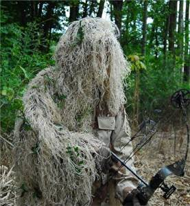GhillieSuits - PP-G-BOW-D-D-XL-LH - Synthetic Ultra-Light Ghillie Bow Hunting Jacket L