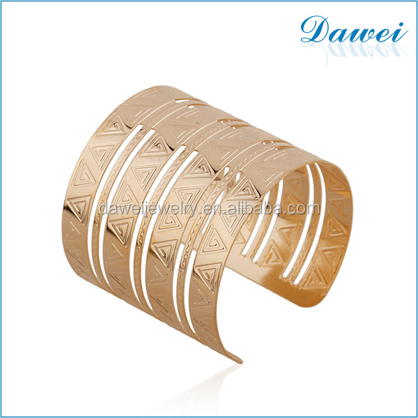 fashion wholesale african style unique gold bangle arm cuff for woman