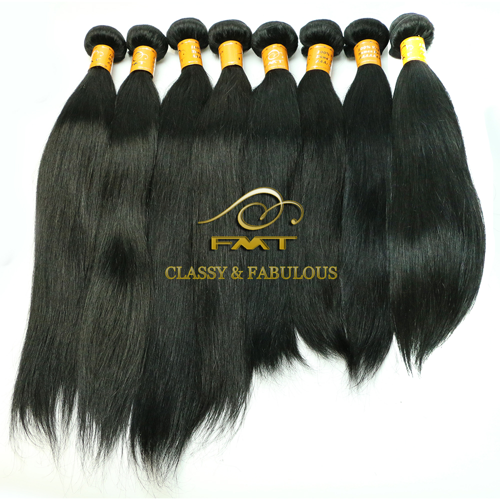 FMT Top Quality No Shedding No Tangle 12 Months Long Last Raw Unprocessed Wholesale 9A Virgin Remy Straight Brazilian Human Hair