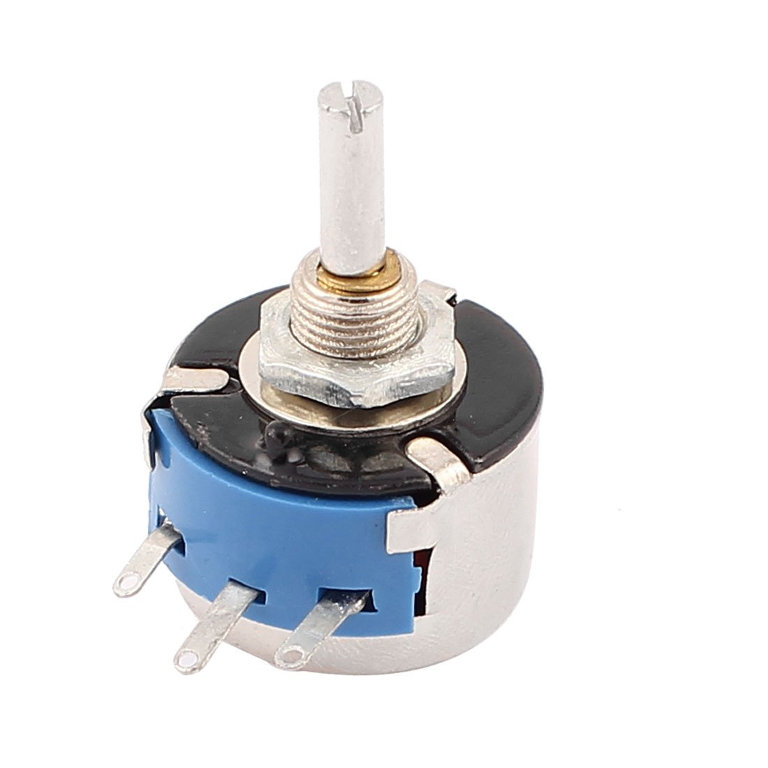 Uxcell a15082600ux0074 4 mm Diameter Shaft 4.7K Ohm Single Turn Wire Wound Potentiometer, 3W