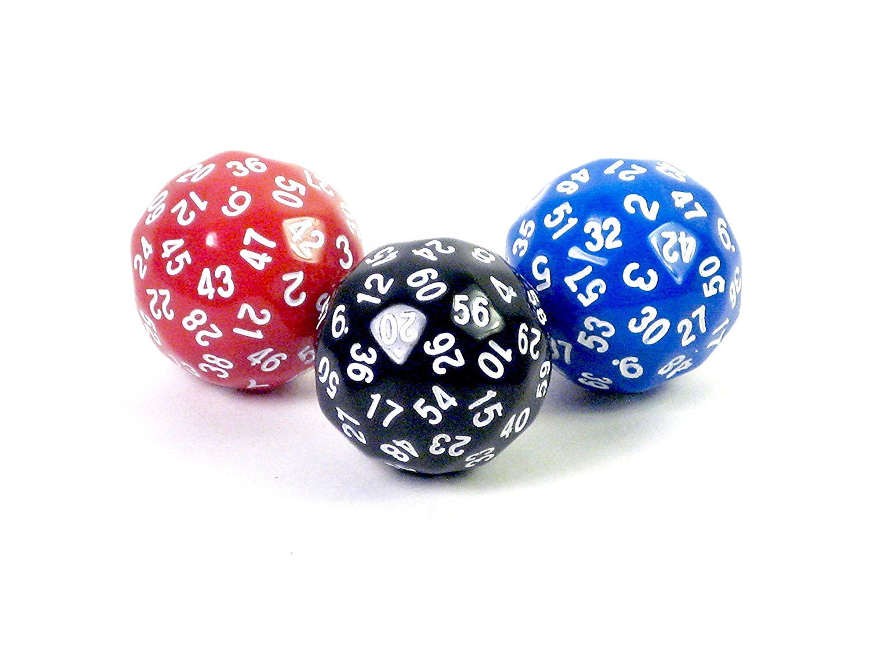Hedral D60 Sixty-Sided Polyhedral RPG Gaming Die Dice Blue