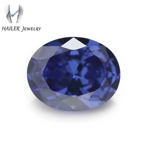 Hot Sale Over The World Jewelry Making Oval 10x8mm Blue zircon stones