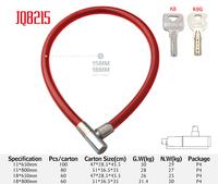 JQ8215 Personal Lightweight Kryptonite Rubber bicycle chain lock anti-theft door key lock food storage