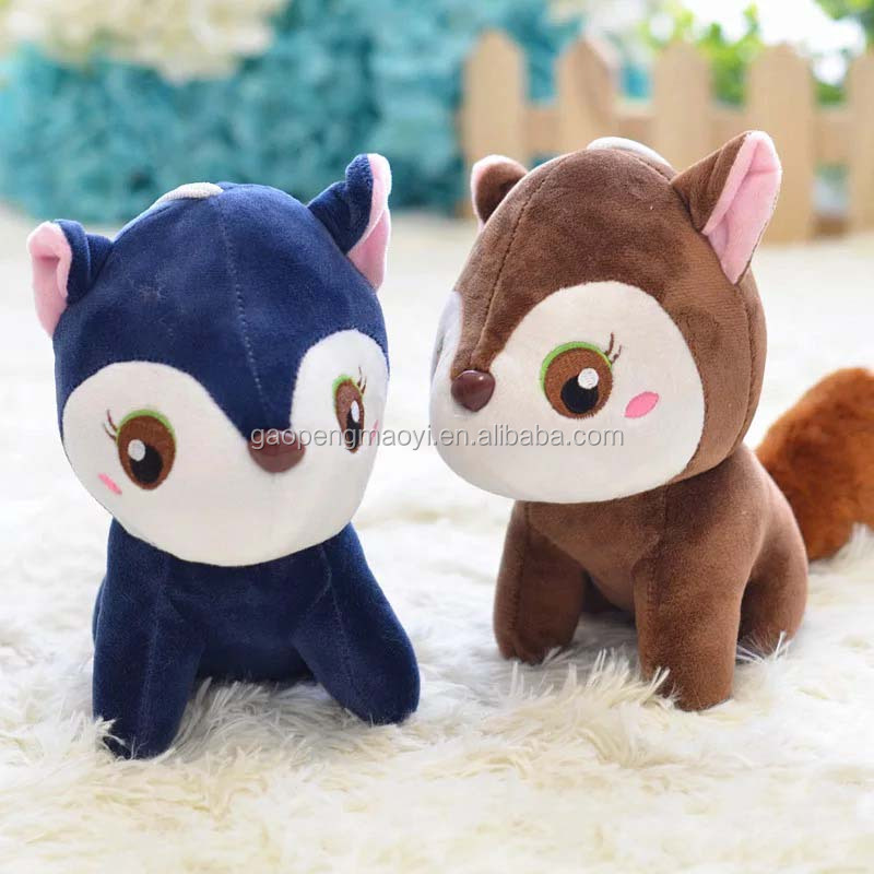 Cute small squirrel plush toy ornaments For Children's Gift Kids Toys,plush toys for crane machine