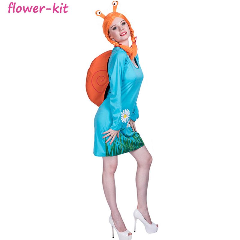 6ca8bd27717 Fiesta de Carnaval adulto mujer insecto traje de caracol para adultos de  las mujeres