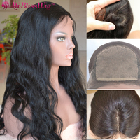 Cheap Silk Top 150% Density Indian Remy Yaki Body Wave Silk Base 100 Pure Virgin Human Hair Full Lace Wigs With Baby Hair