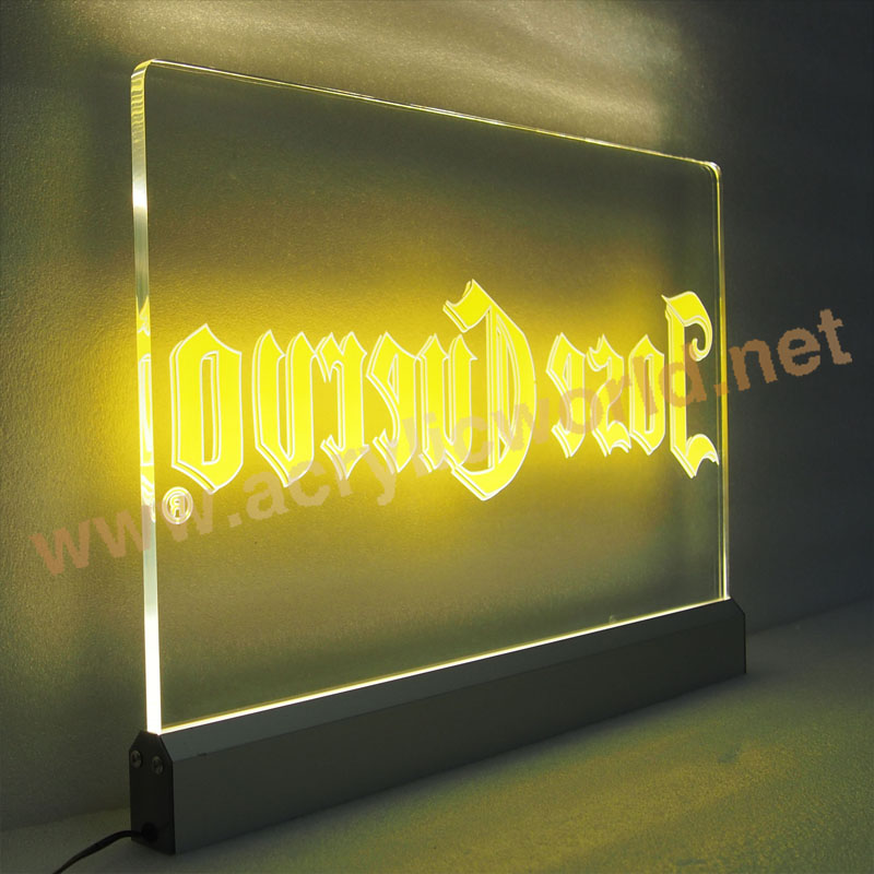 Laser Engraving Letter Acrylic Led Sign With Base Buy