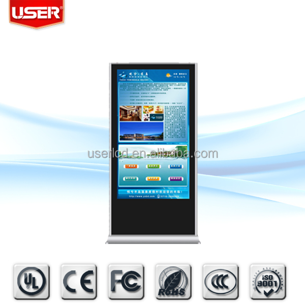 "32""42""46""47""55""65""70""84"" Floor Stand LCD Touchscreen Advertising Player"