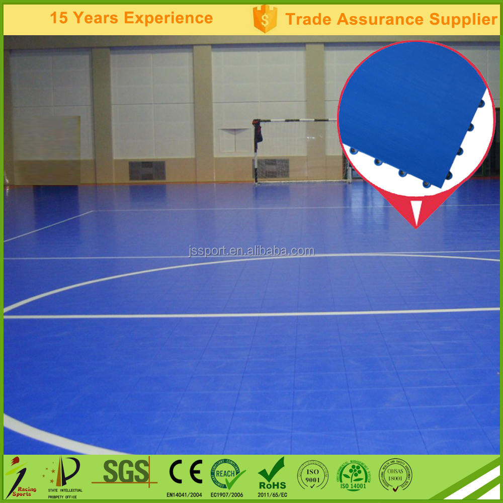 Environmental and recycled plastic of indoor and outdoor futsal court flooring with Factory price