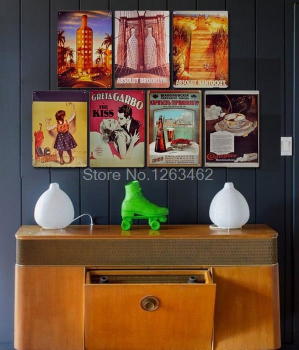 Creative gift Vintage Tin Signs vodka poster retro home decor House Cafe Vintage Bar metal wall art 20*30 CM Free Shipping
