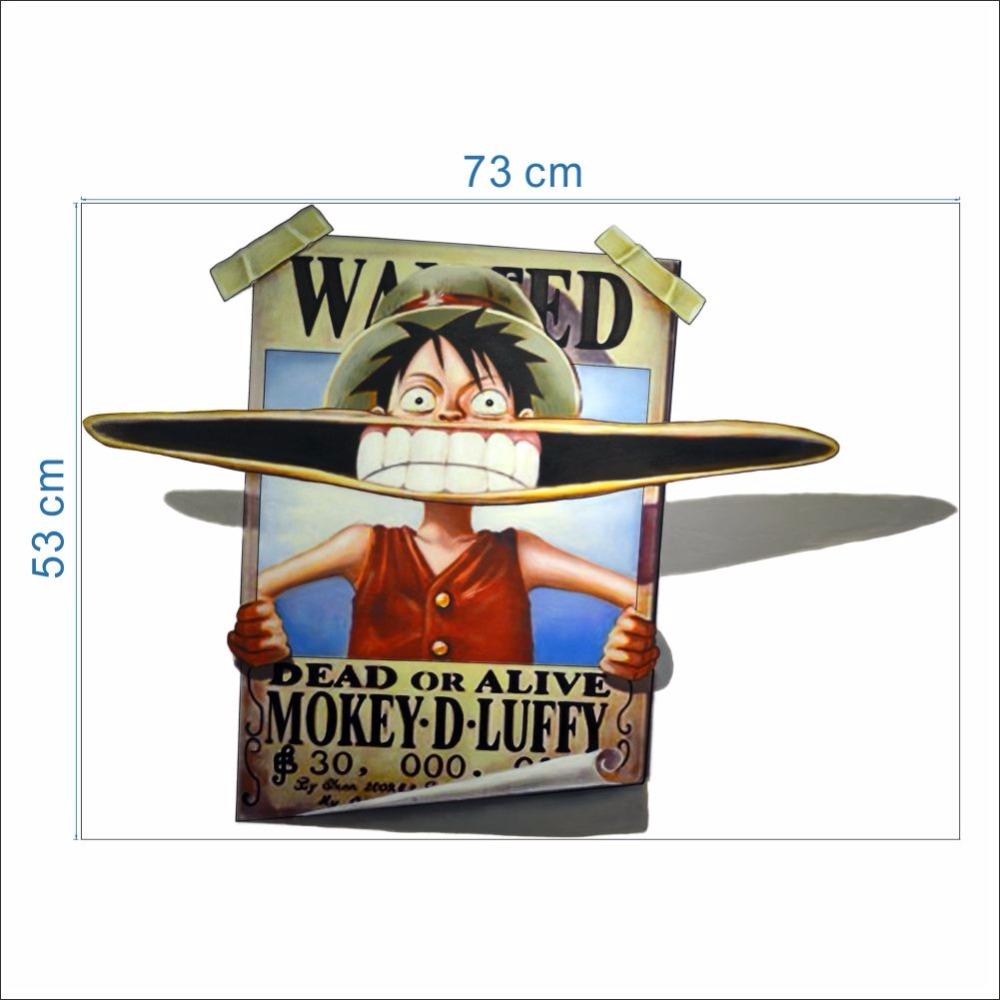 One piece luffy a voulu laffiche stickers muraux