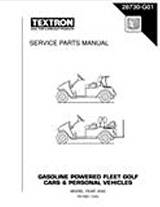 EZGO 28730G01 2002 Service Parts Manual for Gas TXT Fleet and Freedom Vehicles