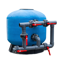 Swimming pool in ground sand filter fiberglass water filter tank