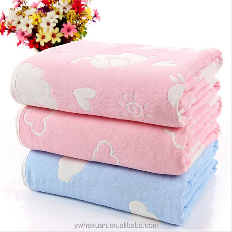 Fábrica de China 6 algodón capa 40 s hilo toalla manta para bebé en ...