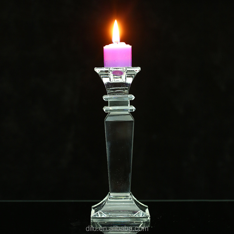 Various Size Shining Crystal Candle Holder Glass Candlestick For Wedding And Candle Holder for Home Decor