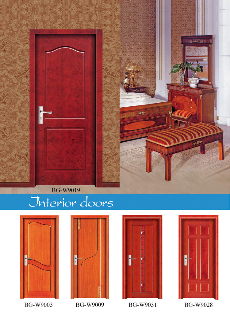 BG W9032 Wooden Temple Design For Home/single Wooden Door Design/safety  Wooden