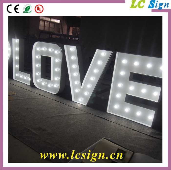 vintage marquee led bulb decoration