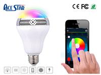 2016 Popular Wireless Bluetooth E27 Stereo Surround Led Light Bulb Speaker Bluetooth Speaker Bulb With Degital Alarm Clock