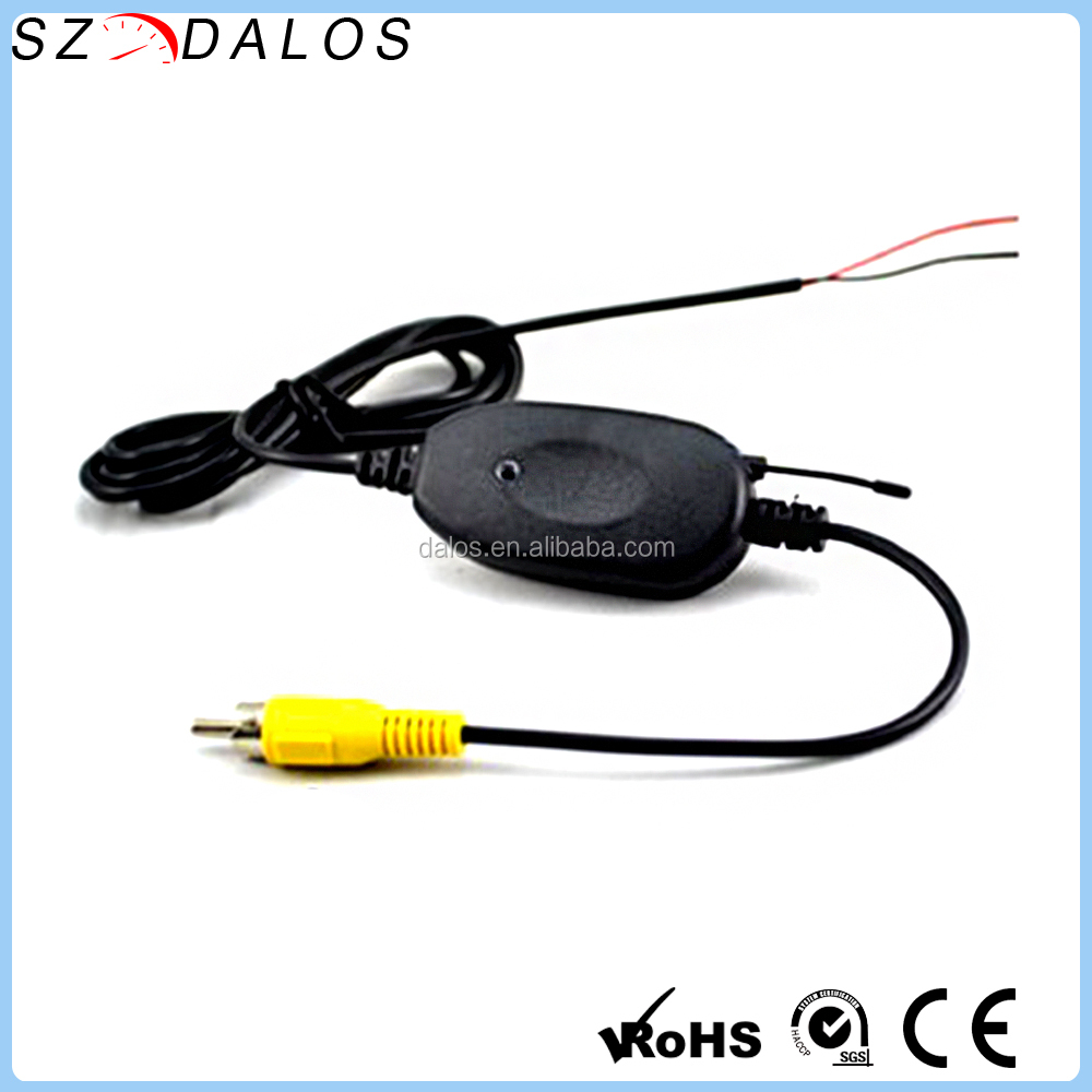 Wireless RCA Video Transmitter Receiver for Car Rear View Camera Wireless Transfer