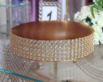 New ! Round Gold Cake Stand For Event Table Centre Piece