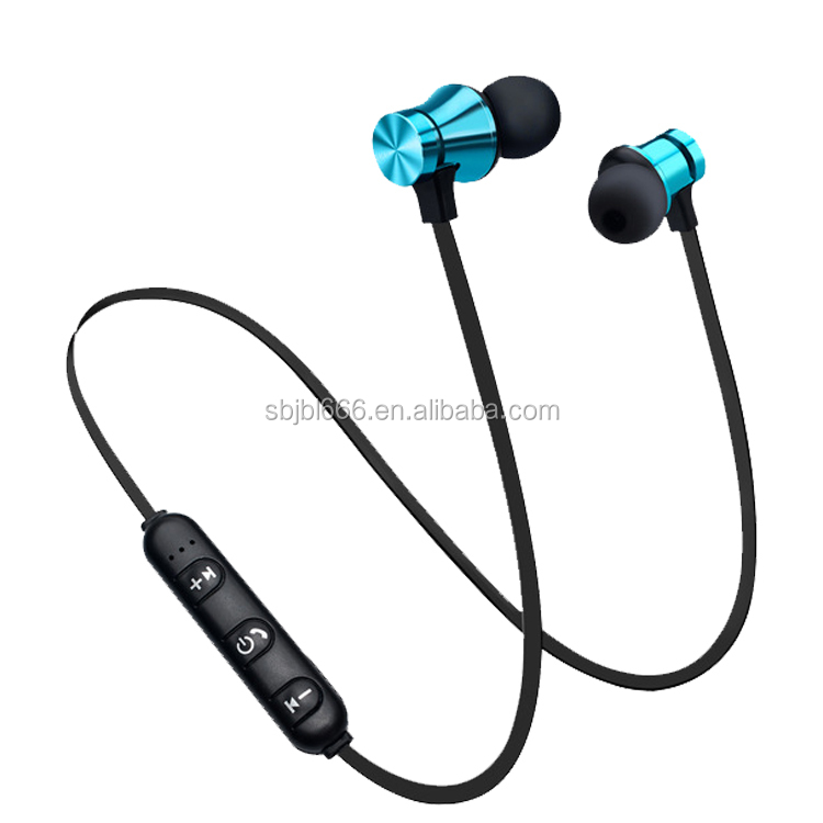 2018 fashion magnetic waterproof heavy bass stereo wireless earbuds sport earphone with mic mini  neckband headphone for running