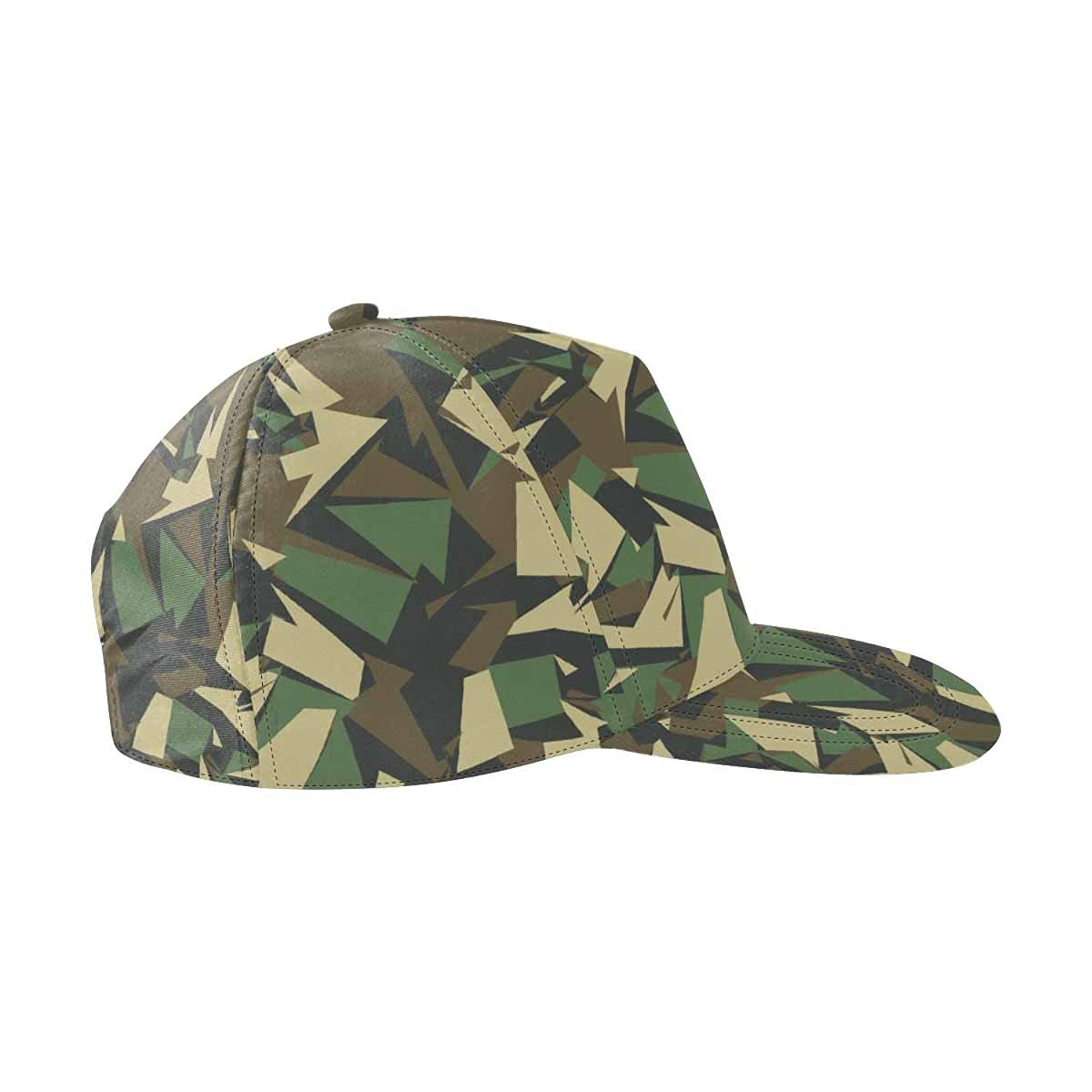Get Quotations · InterestPrint Camouflage Geometric Army Unisex Snapback  Hats b3a1845b97f