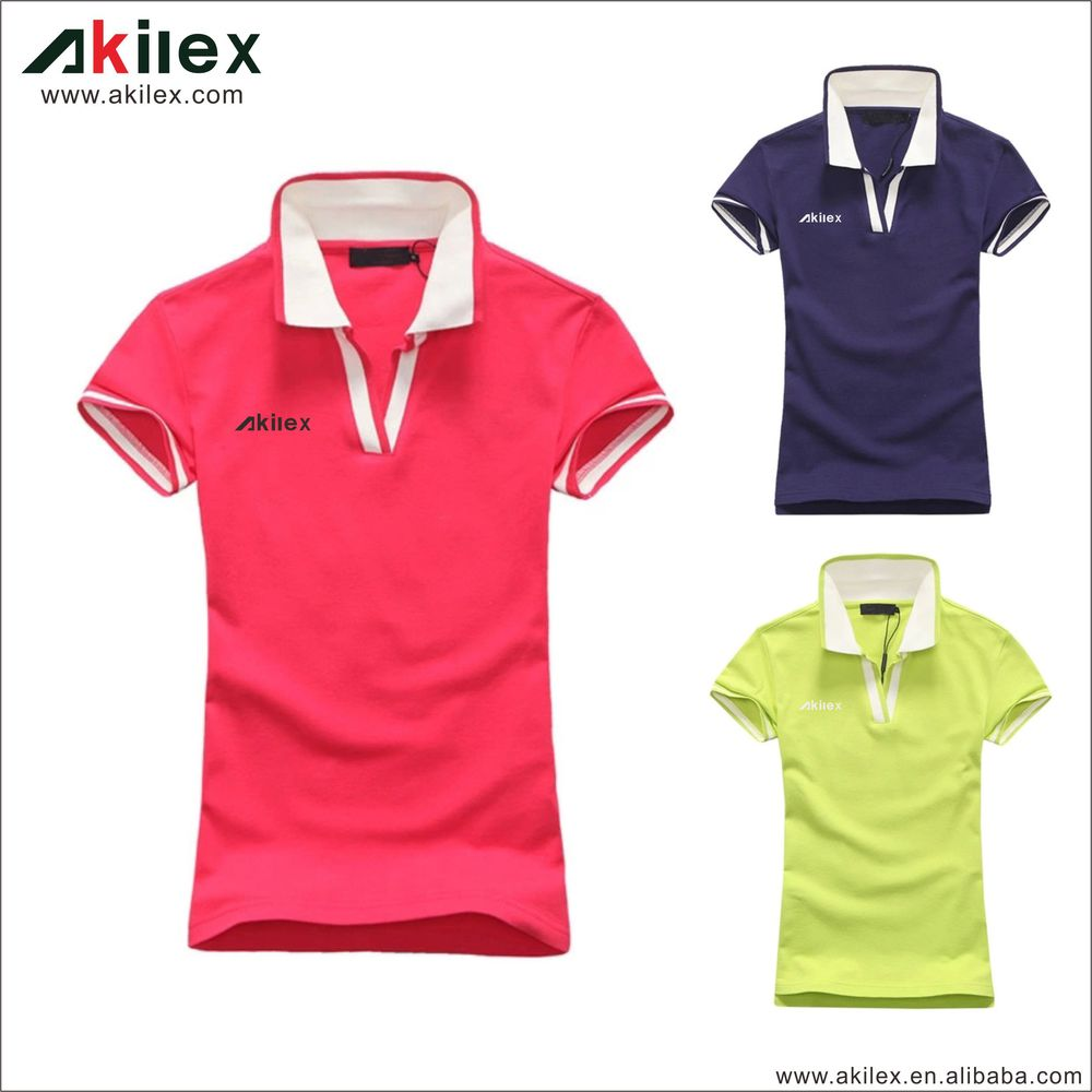 High quality custom design polo women clothes wholesale for Woman s polo shirts
