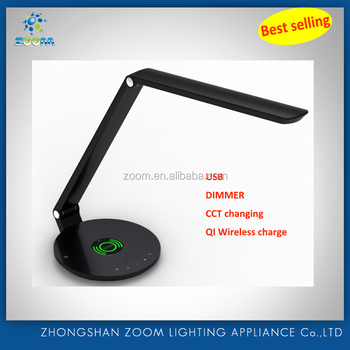 2016 Led 10w Qi Wireless Charger Led Desk Lamp With Brightness ...