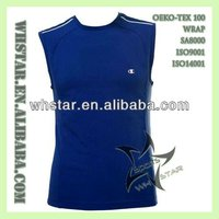 Sleeveless sweatshirt for man wholesale clothing tops