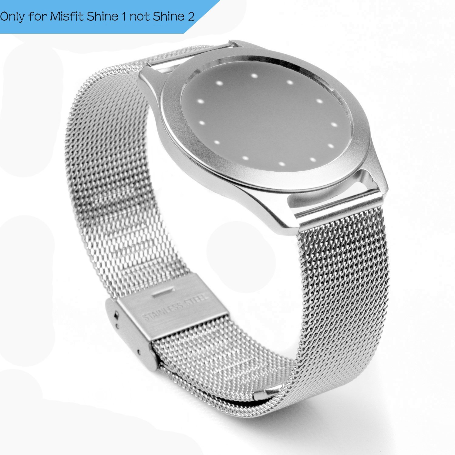 Misfit Shine Band, PUGO TOP Milanese Mesh Strap Band with Buckle for Activity and Sleep Monitor Misfit Shine ( Only for Misfit Shine 1 not Shine 2 )